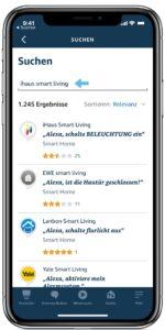 iHaus Skill in der Alexa App suchen