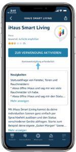 iHaus Skill in der Alexa App verknüpfen