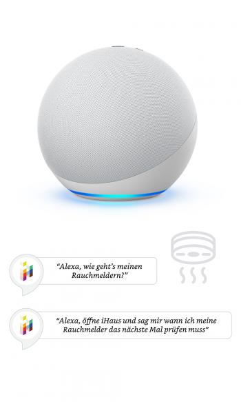 iHaus Rauchmelder mit WLAN: Alexa
